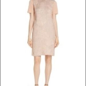 Tory Burch floral cloque front sweater dress